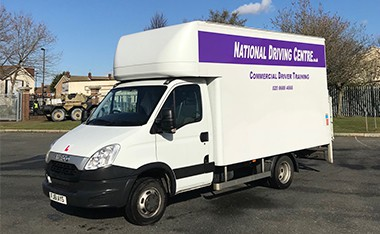 LGV/HGV Cat C1 7.5 tonne lorry with National driving Centre signage