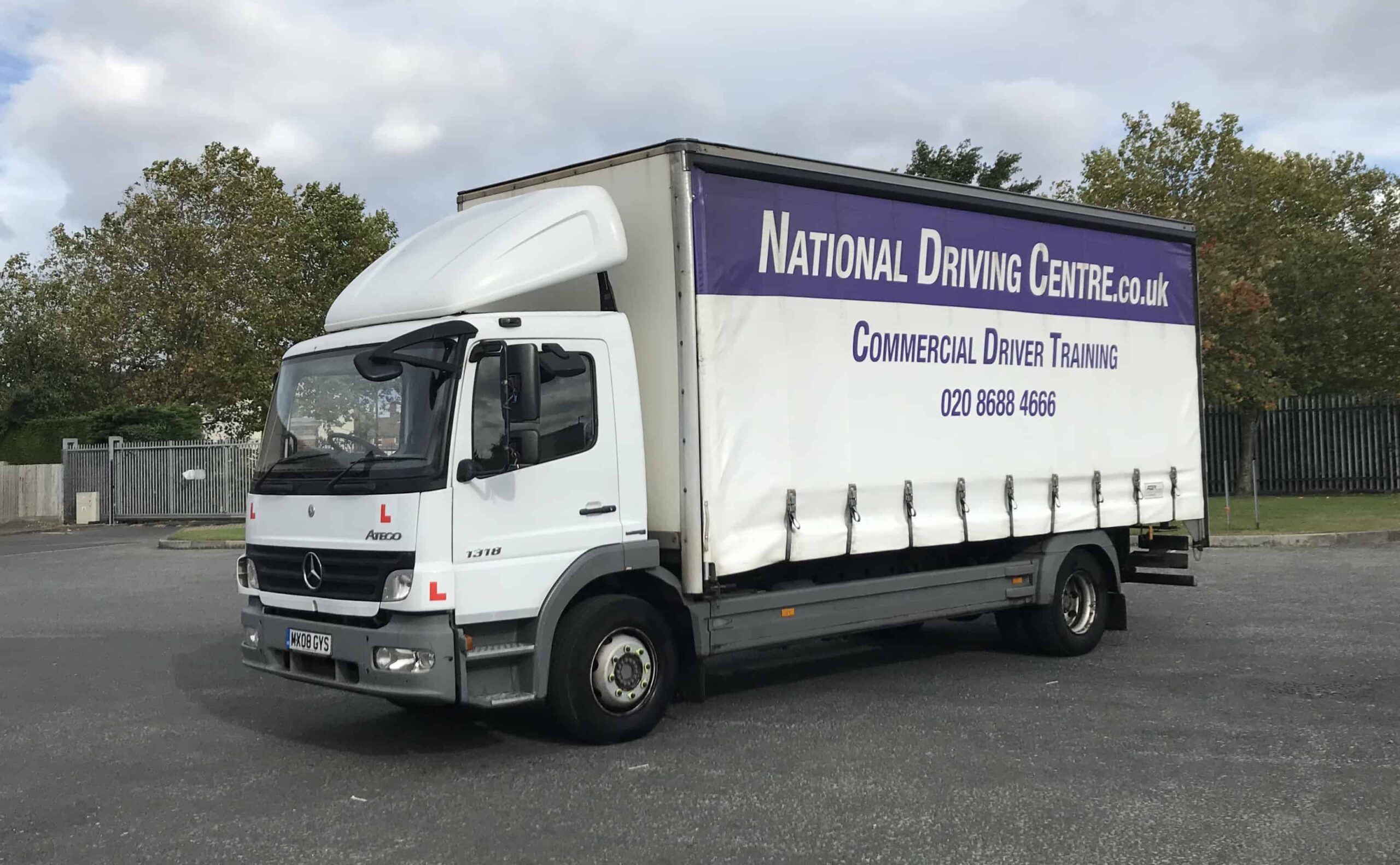 Class 2 HGV / LGV lorry with National Driving Centre signage