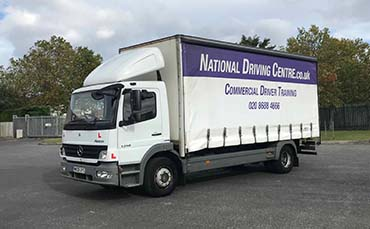 LGV / HGV Cat C class 2 lorry with National Driving Centre signage