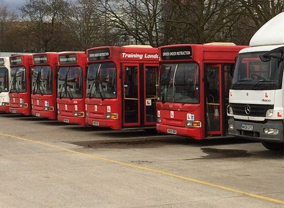Some of National Driving Centre's fleet of LGV / HGV vehicles